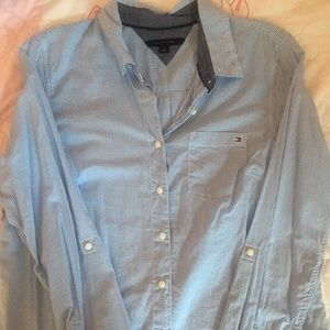 Tommy Hilfiger Pale Blue Gingham Button Down